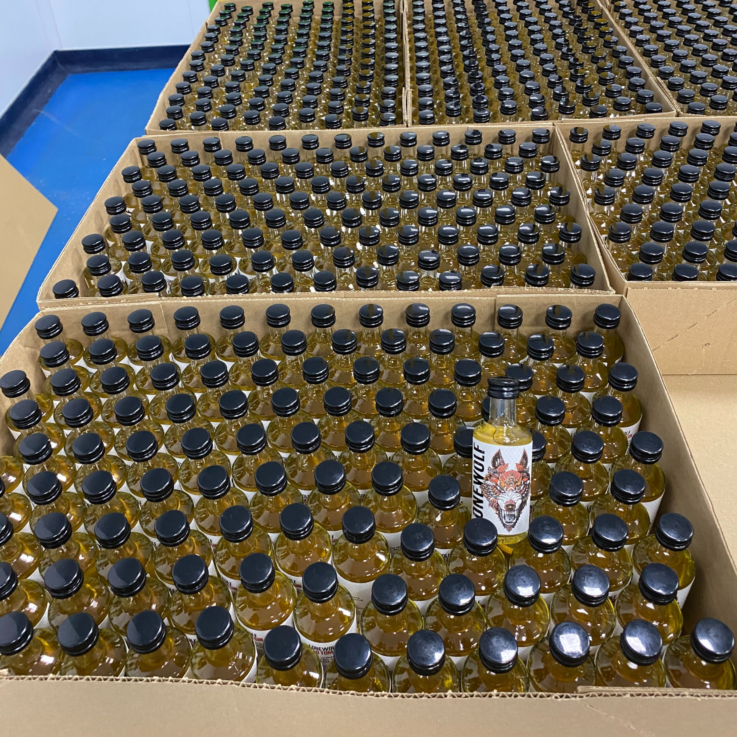 Brewdog bottles ready for warehousing at the Copacking-plant